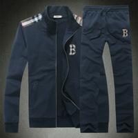 New 2014 autumn cardigan b zipper style classic long-sleeve sports suit Cotton fabric fashion winter men clothing set