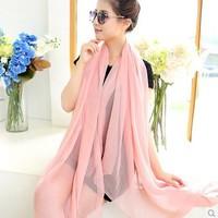 Women Winter Scarfs 2014 Chiffon Long Infinity scarf Beach Shawl Casual Scarves & Wraps