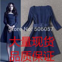 Free shipping 2015 Women's fashion casual Slim denim Dresses Size S M L