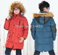 Male child down coat child coat medium-long down thickening children's clothing big boy down coat winter