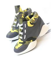 Fashion vintage multicolour genuine leather high-top shoes casual shoes women's platform shoes  sport shoes single