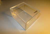Acrylic mosquera box 10.5 8.5 6 scorpion reptile tank feeding box