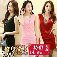 HOT 2014 ladies summer plus size S-XXXL casual sleeveless tank basic slim dress 12 color