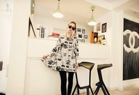 Maternity clothing autumn and winter maternity one-piece dress fashionable casual cartoon long-sleeve dress plus size top