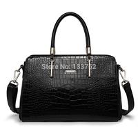 Card women's bags genuine leather for Crocodile handbag shoulder cross-body bag