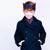 Male child elegant double breasted woolen overcoat fashion child spring and autumn outerwear collcction children's clothing