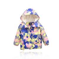 Female child thickening berber fleece cotton-padded jacket child wadded jacket hot-selling Camouflage cotton-padded jacket