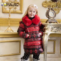 New  children's clothing pure child down coat  girl coat medium-long down(Size 4-14)