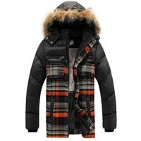 6 - 12 years fleece kids jackets winter plaid woolen cloth patchwork thickening big boy winter coat fashion children clothing