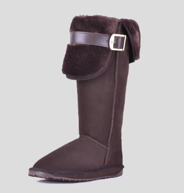 2014 women boots snow boots new fasion female winter genuine leather tall boots waterproof over-the-knee thermal winter boots(China (Mainland))