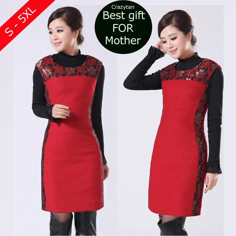 Женское платье Wool dress 2015 XXL 4XL 5XL Twinset ol 1411 женское платье 2015 l xl xxl xxxl 4xl 5xl 6xl