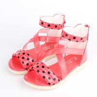 3-6 year little girl sandal 2014 new arrival child girl sandals kid girl princess shoes flower baby girl summer sandal shoes