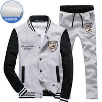 New arrival fashion sport suit for men casual slim men clothing set  M--4XL