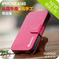 Xuenair Mobile Phone Bags &  leather Cases 4s  high protective holster with hanging lace  high quality protective holster DIY