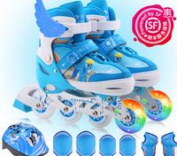 Skating shoes child full set skeeler skating shoes skating shoes adjustable flash