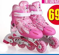 Child skating shoes child full set adjustable flash inline roller skates skating shoes skating shoes