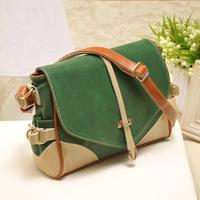 2014 fashion candy scrub women's genuine leather handbag preppy style sweet shoulder bag cross-body bag small