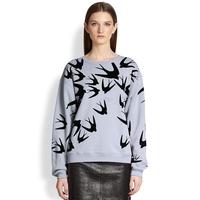 2014 new hoodies major suit wind runway swallow printing long sleeved women sweater free shipping