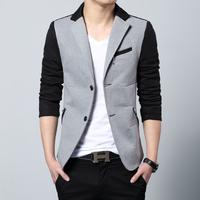 Free shipping 2014 new fashion casual cotton slim plus size 4xl 5xl 6xl korea style suit blaser masculino male jacket blazer men