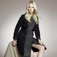 2014 winter women's fashion vintage British style medium-long luxury compound suede fur one piece coat thicken plush coat H0498