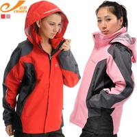 new women outdoor jackets windbreaker lady twinset fleece liner hiking ski suit fashion factory price waterproof big long best