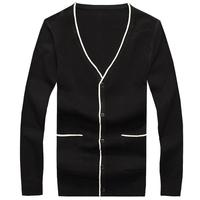 2014 Autumn Casual man cardigan slim V-neck sweater long-sleeve sweater male sweater