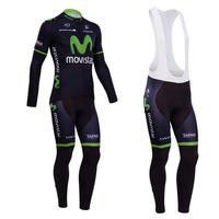2014 cycling jersey long sleeve winter thermal fleece cycling clothing men clothing set