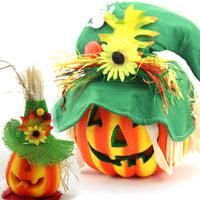 Halloween pumpkin decrotions luminous cutout foam pumpkin Large and Small pumpkin party Decrotions