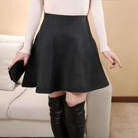 2014 spring all-match high waist zipper wave short skirts knitted pleated skirt female