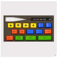 Pbt ikbc RGB Keys Keycaps 15pcs/set for 87/104/108 Mechanical Keyboard Two color molding