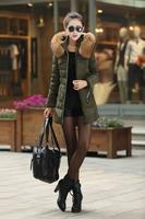 2014 new  fashion winter  women's down coat slim clothing  fur collar warm plus female down jackets outerwear