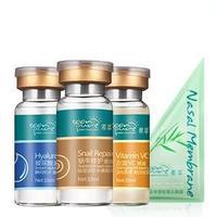free shipping 3 pic Snail hyaluronic acid L-carnitine VC solution essence liquid moisturizing  whitening Anti-Aging lotion
