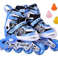 122 - 2 skatse child skating shoes flash set roller skate shoes flanchard