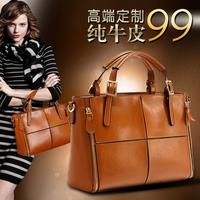 Genuine leather women's handbag fashion 2014 women's fashion cross-body handbag cowhide cross-body handbag women's shoulder bag