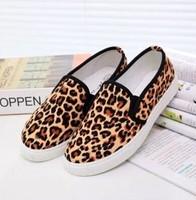 Belle is older low leopard autumn print canvas shoes female pedal shoes lazy platform women's shoes casual shoes