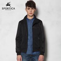 Waterproof zipper casual men jacket turn down collar winter jacket anorak men outwear coat free shipping