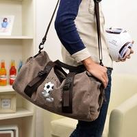 100% cotton canvas big bag one shoulder handbag travel bag large capacity travel luggage bag