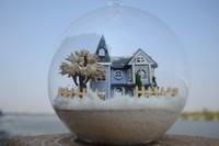 DIY dollhouse Glass house Fairy tale town