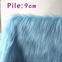 Meters light blue plush 9cm handmade diy counter decoration background fabric plaid pavans