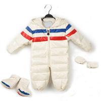Baby down coat newborn 0-1 year baby bodysuit infant boy romper newborn red jumpsuit for winter baby clothing set baby snowsuit