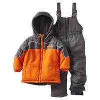 2014 hot Outdoor child ski suit  boys set thickening male child outdoor jacket one piece bib pants set