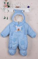 Baby winter plus velvet thickening cotton-padded romper newborn boy girls winter clothes children wadded jumpsuits overalls