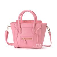 Bag female bags messenger bag smiley bag  Medium pink