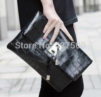 2014 spring high quality python day clutch envelope bag crocodile pattern clutch bag women shoulder bag
