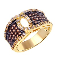 2014 ring vintage pave micro setting finger ring for women 2 tone gold plated best for anniversary gifts