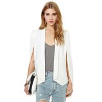 Brand New 2015 Fashion Womens solid color unique Slim Vest Jacket Jackets Plus Size