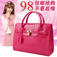 Fashion women's big bags 2014 for Crocodile handbag bag platinum one shoulder bridal bag women's handbag