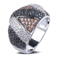 bridal style fingerrings 2014 new designs AAA quality Zircon crystals Valentine gift best choice