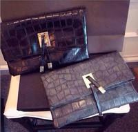2014 new crocodile pattern leather brand envelope bag ladies fashion brand design women wallet clutch bags