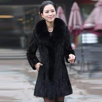Kaka 2014 mink fur coat marten fur overcoat Women fight mink fur